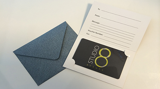 Studio 8 Beauty Salon gift vouchers