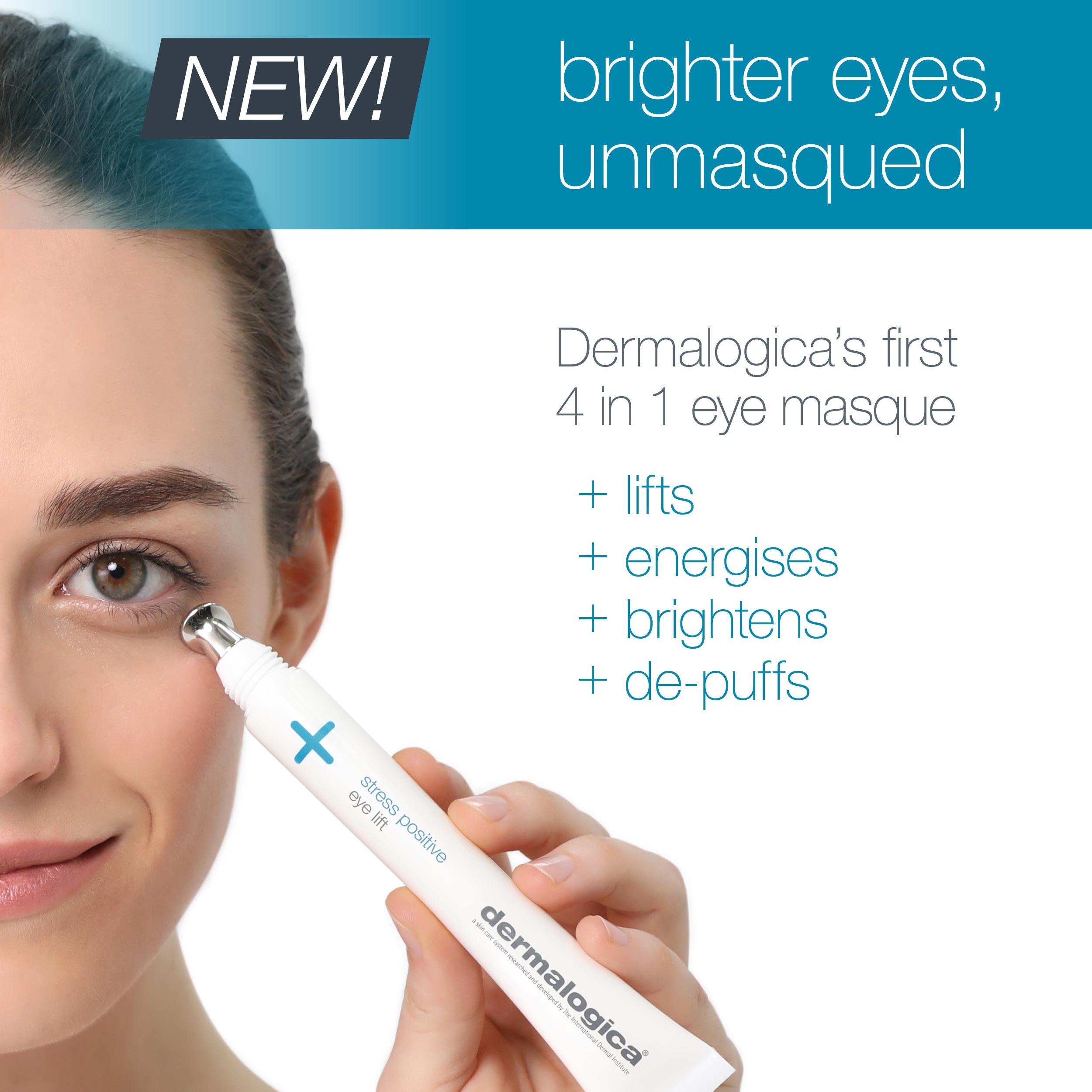 Dermalogica Stress Positive Eye Lift treatment flyer