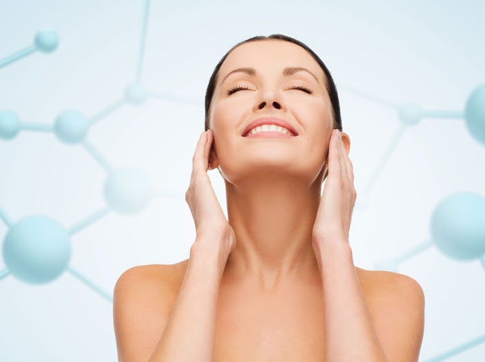 Woman who has had a Microdermabrasion Facial