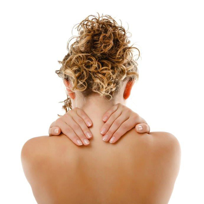 Image of lady needing tension relieving massage